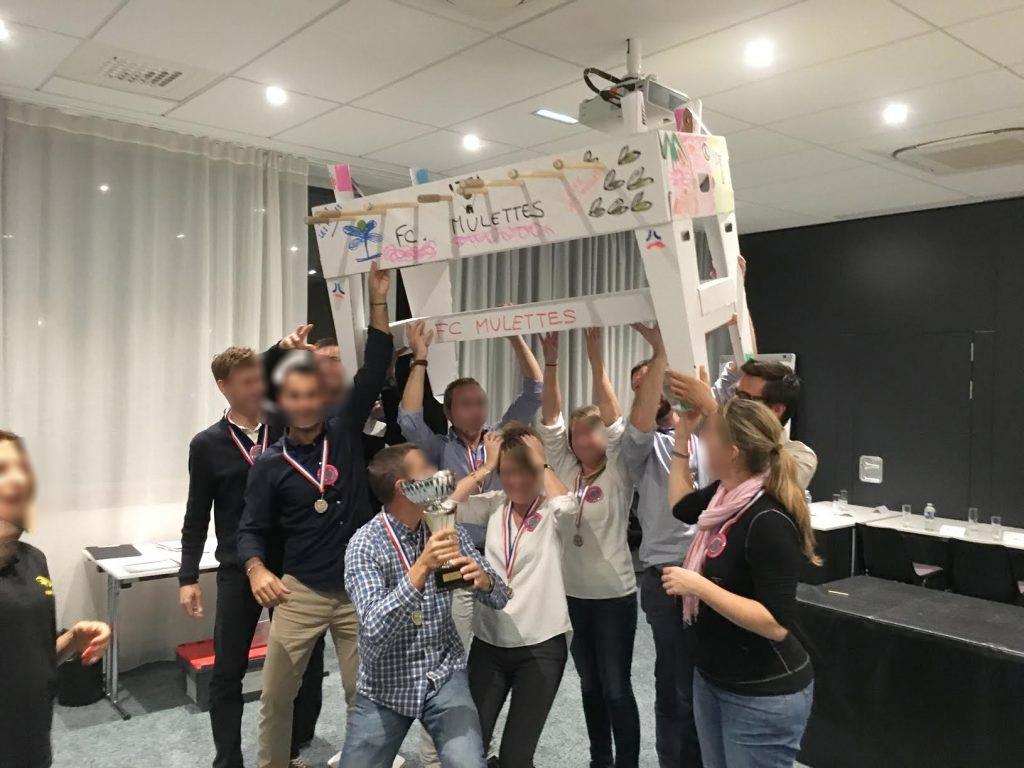 Un nouveau team building : le baby foot construction - la victoire