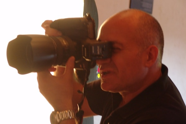 Animation badge button avec photographe professionnel