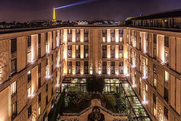 Evénementiel hotellerie luxe Courcelles - vue du ciel