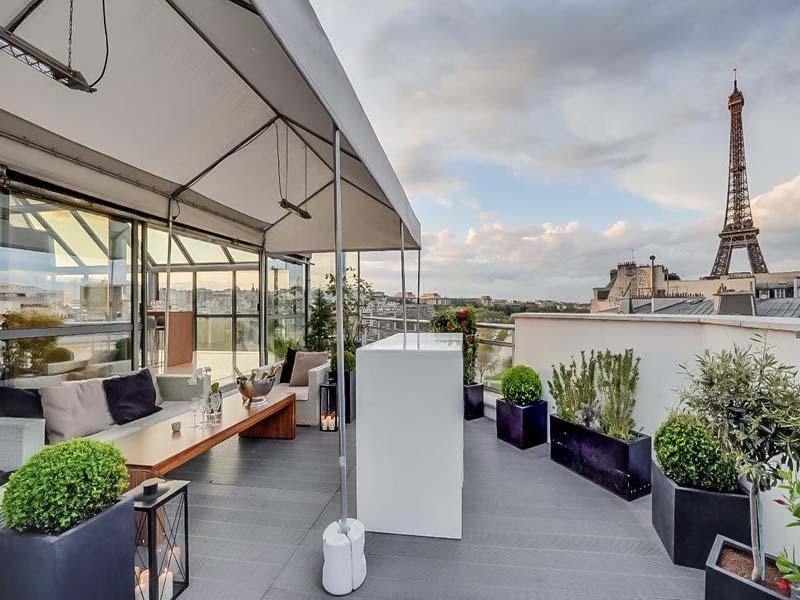 Lieu événementiel Rooftop Paris Pyramide - incentive d'entreprise