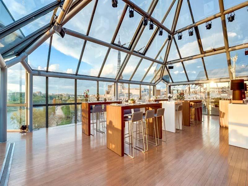 Lieu événementiel Rooftop Paris Pyramide - soirée d'entreprise