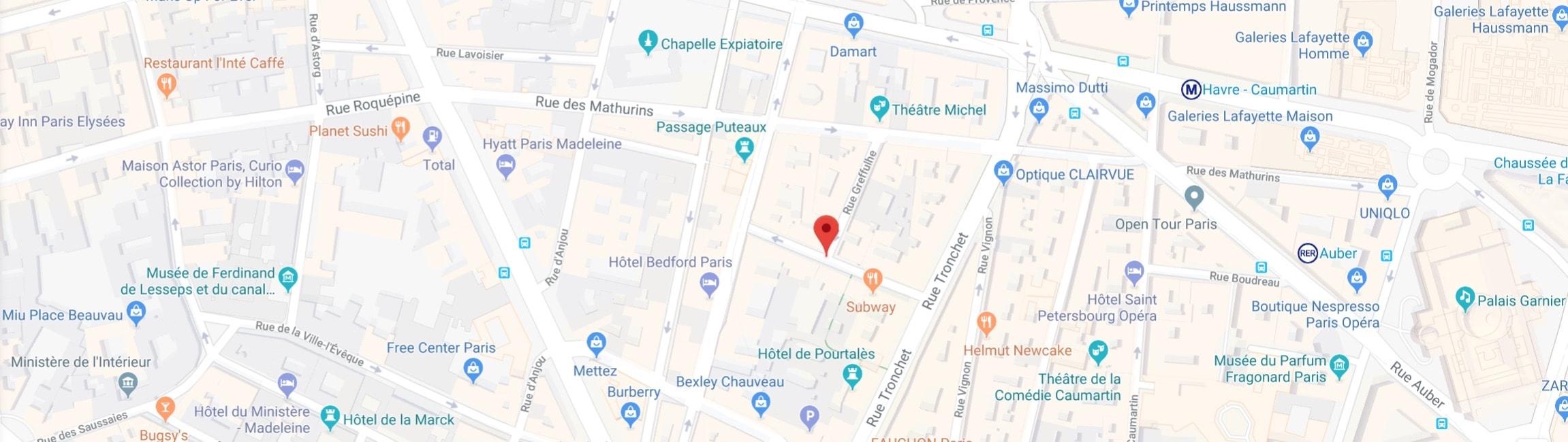 Agence événementiel Paris - adresse des bureaux
