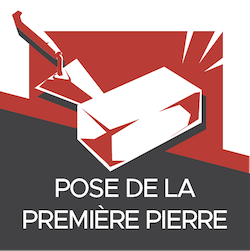 Agence événementiel Paris - pose de la 1ère pierre