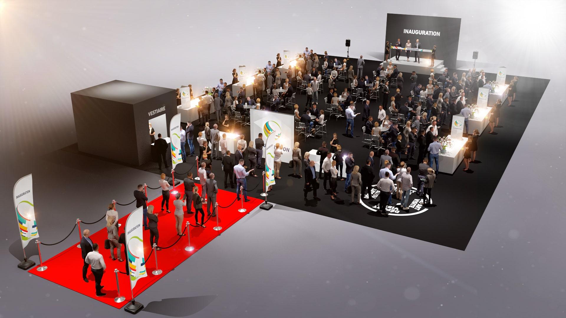 Inauguration nouveaux locaux entreprise - événementiel industriel