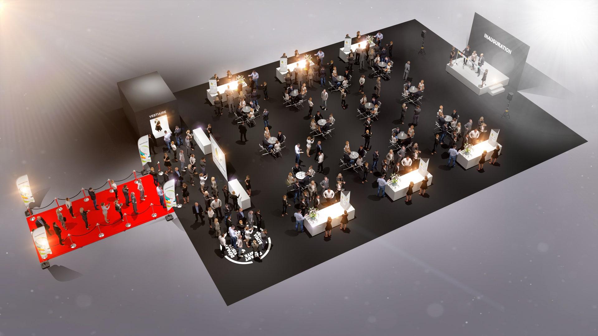 Inauguration nouveaux locaux entreprise - dispositif événementiel
