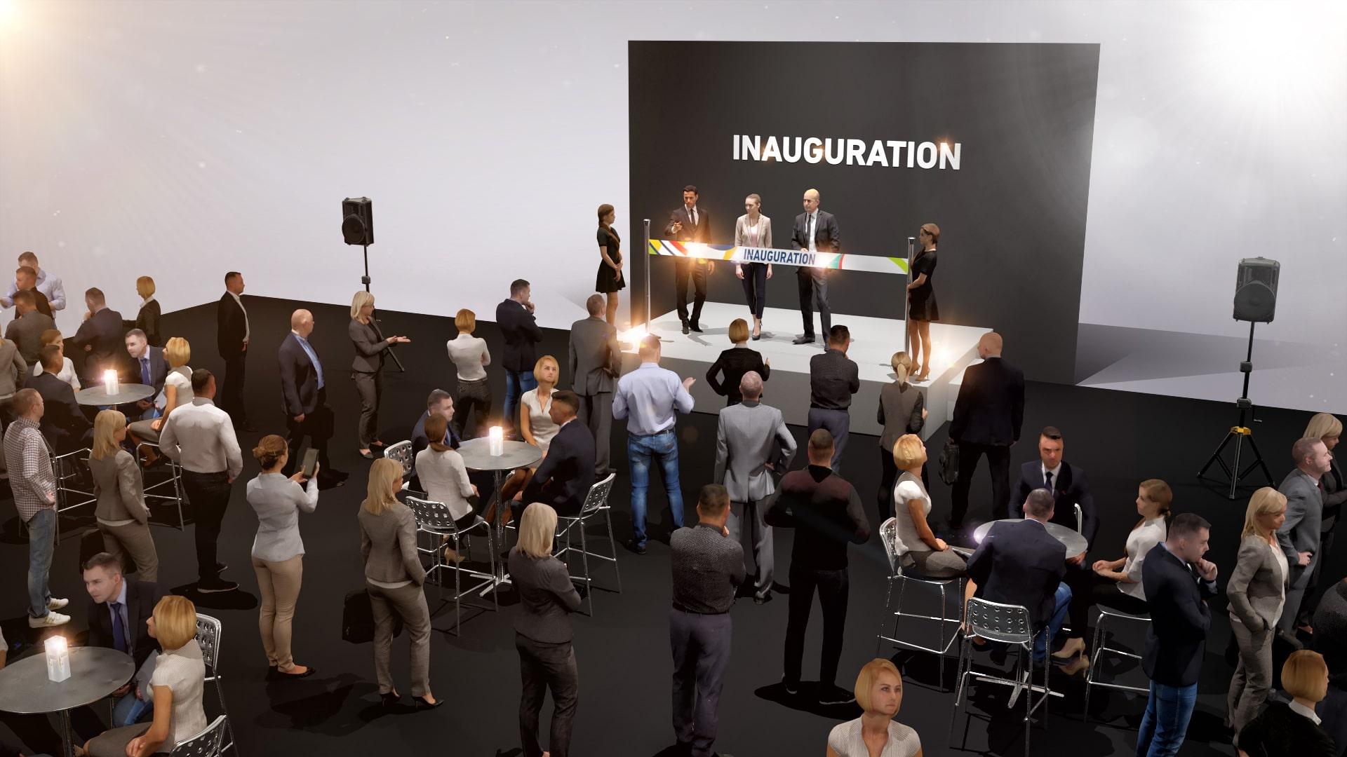 Inauguration nouveaux locaux entreprise - Discours et coupe du ruban