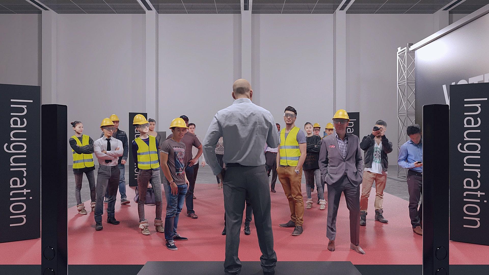 Inauguration entreprise - visite industrielle