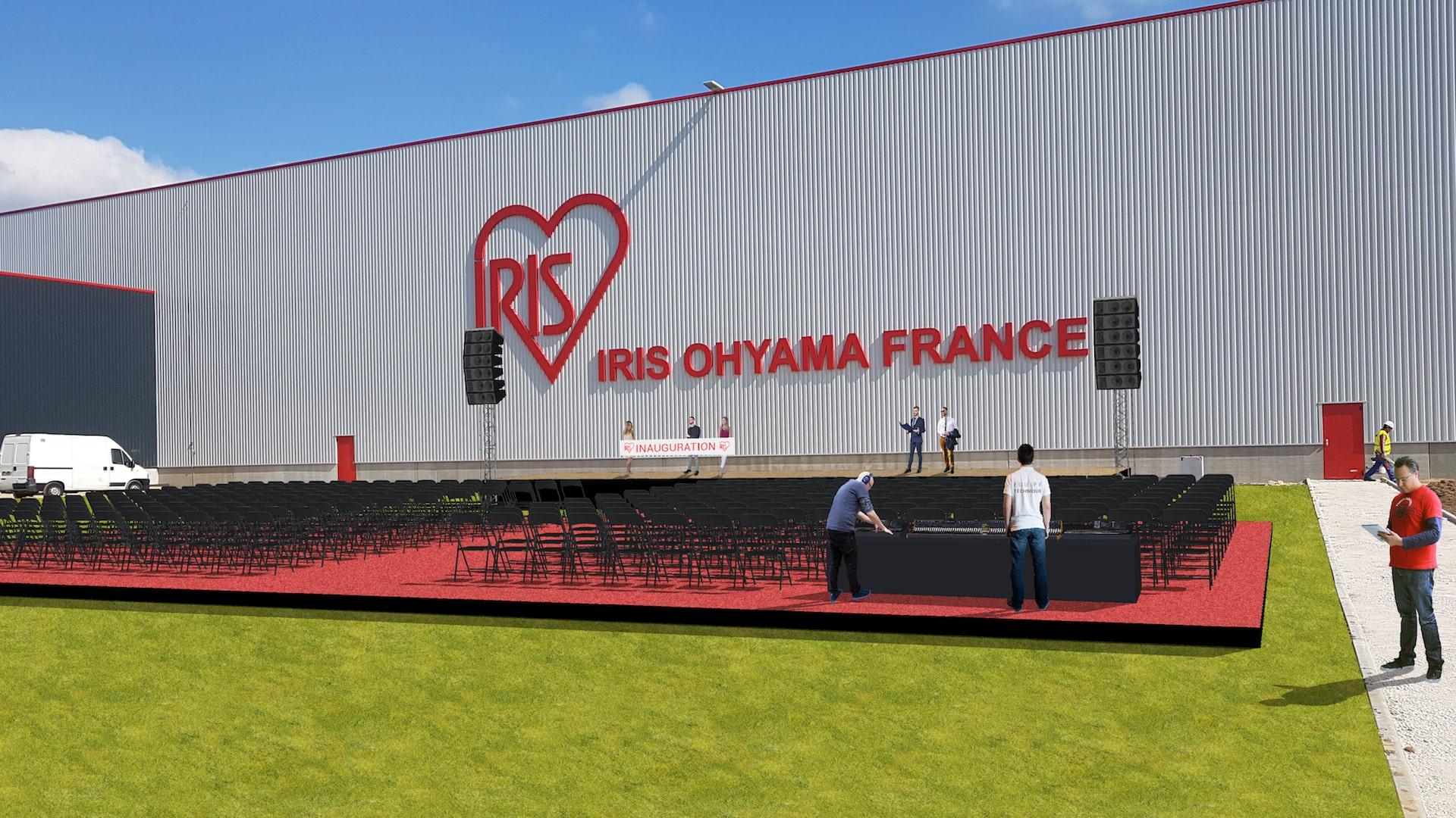 Inauguration d'usine ruban d'inauguration