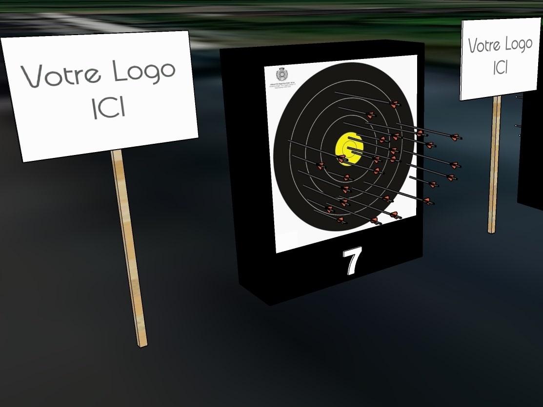Team-building Tir à l'arc sur parcours - Signalétique personnalisée
