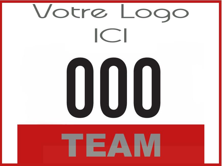Team-building-Tir-à-larc-sur-parcours - Dossards par équipe pour les participants